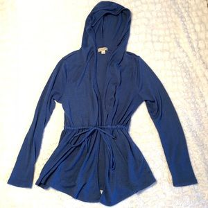 One World Hooded Knit Cardigan